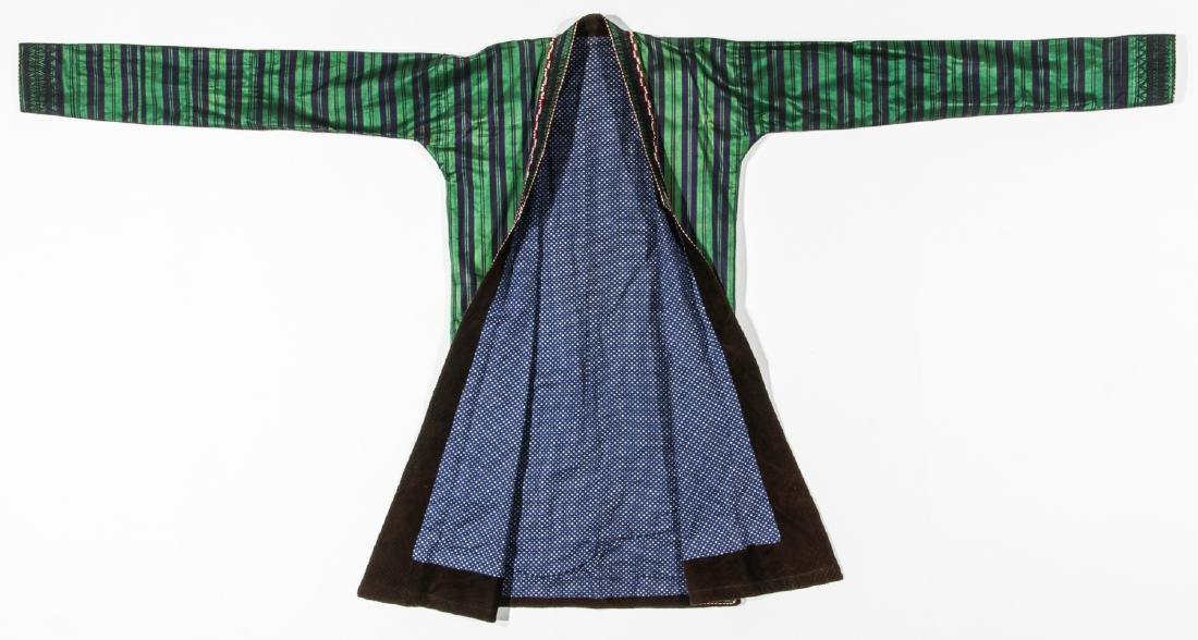 2 Antique Central Asian Silk Ikat Coat/Chapans - 9