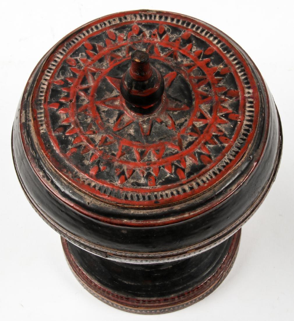 Three 19th C. Burmese Lacquerware - 3