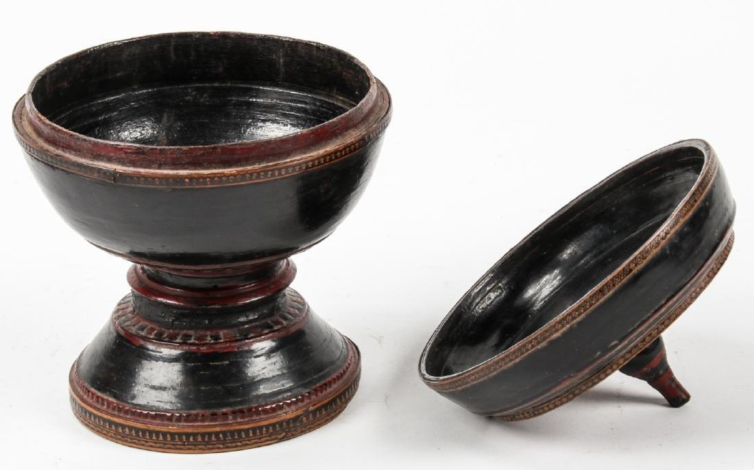 Three 19th C. Burmese Lacquerware - 4