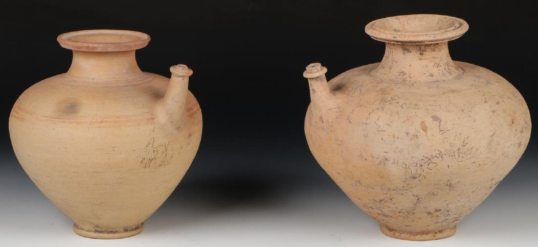 2 Asian Archaic Ceramic Water Vessels