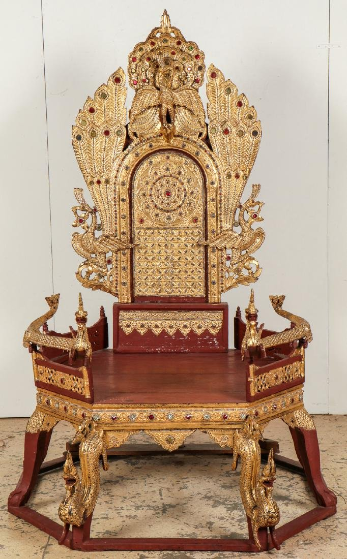 Large Old Buddhist Dhamma Preaching Chair, Burma