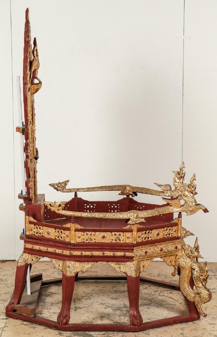 Large Old Buddhist Dhamma Preaching Chair, Burma - 5