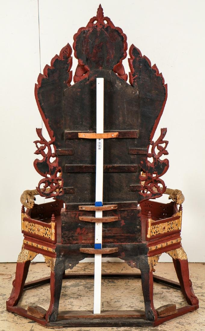 Large Old Buddhist Dhamma Preaching Chair, Burma - 6