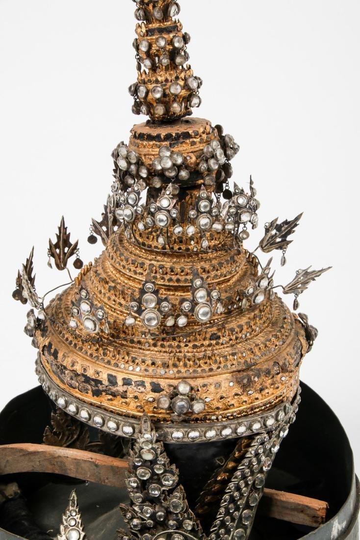 Antique Burmese Headdress - 4