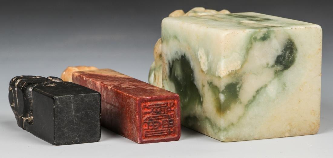 3 Chinese Hardstone Chops - 5