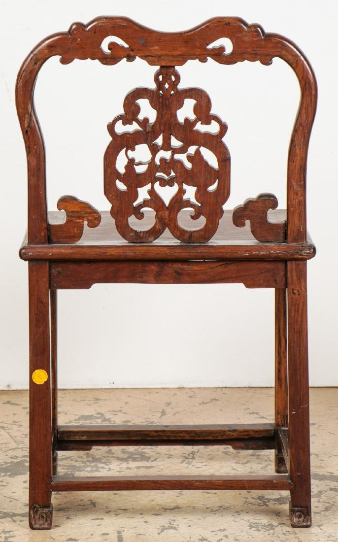 Antique Chinese Hardwood Chair - 5