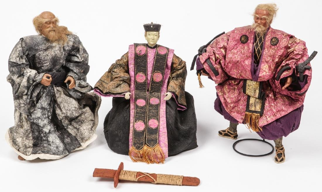 Group of 3 Japanese Dolls