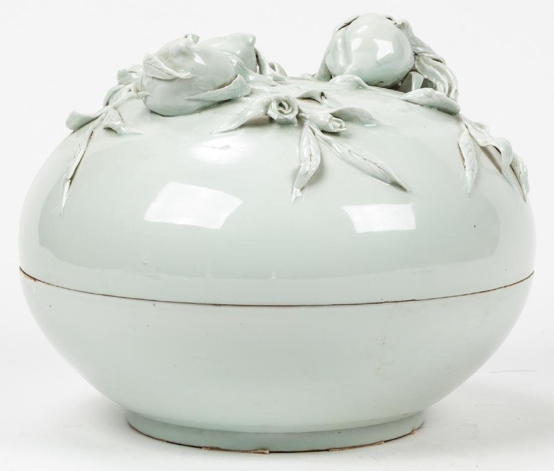 Chinese White Porcelain Lidded Vessel - 3
