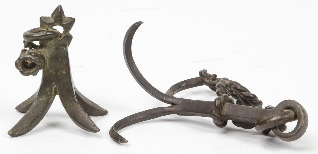 2 Japanese Bronze Anchor Forms - 2