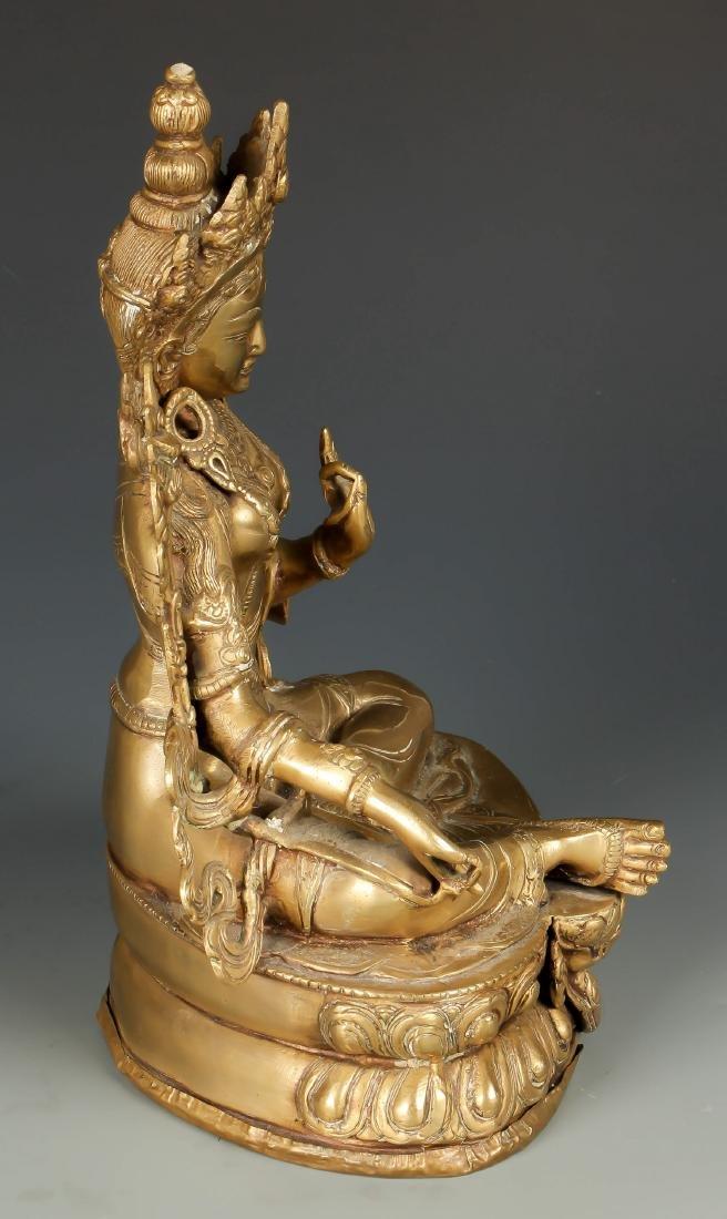 Gilt Bronze Buddha - 4
