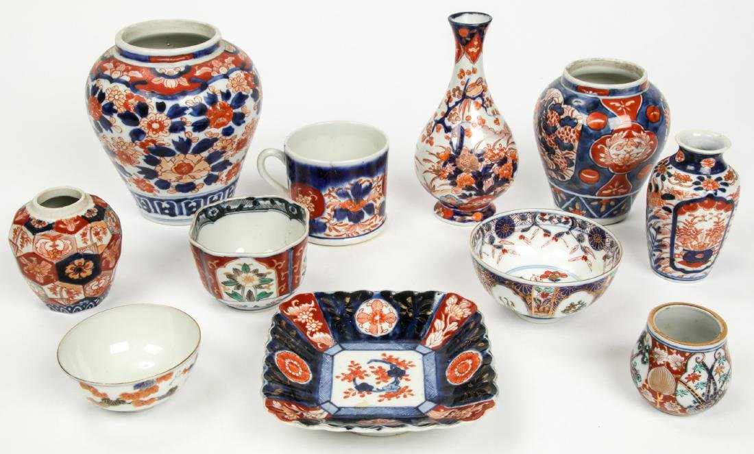 Estate Collection of Imari Porcelain (14 Items) - 2