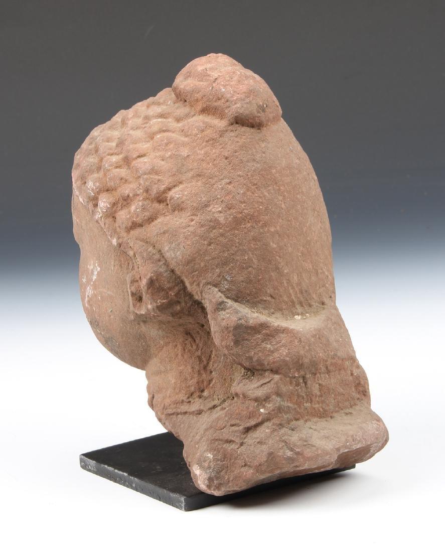 Red Sandstone Bust of Buddha, Gupta Period, 5th C., - 4