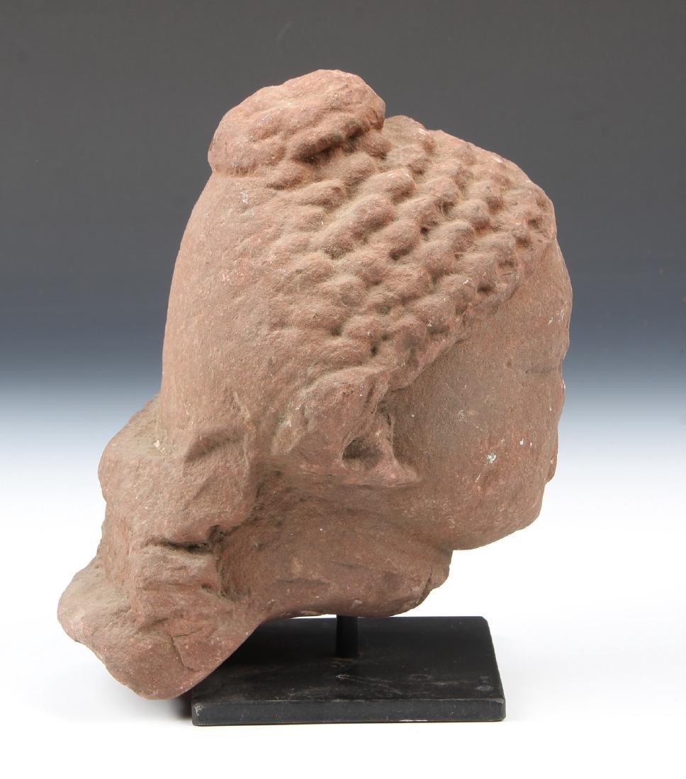 Red Sandstone Bust of Buddha, Gupta Period, 5th C., - 5
