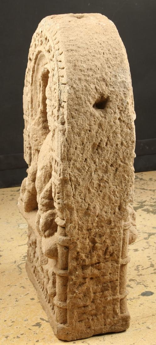 Double Sided Sandstone Stele, India, 10th-12th C. - 4