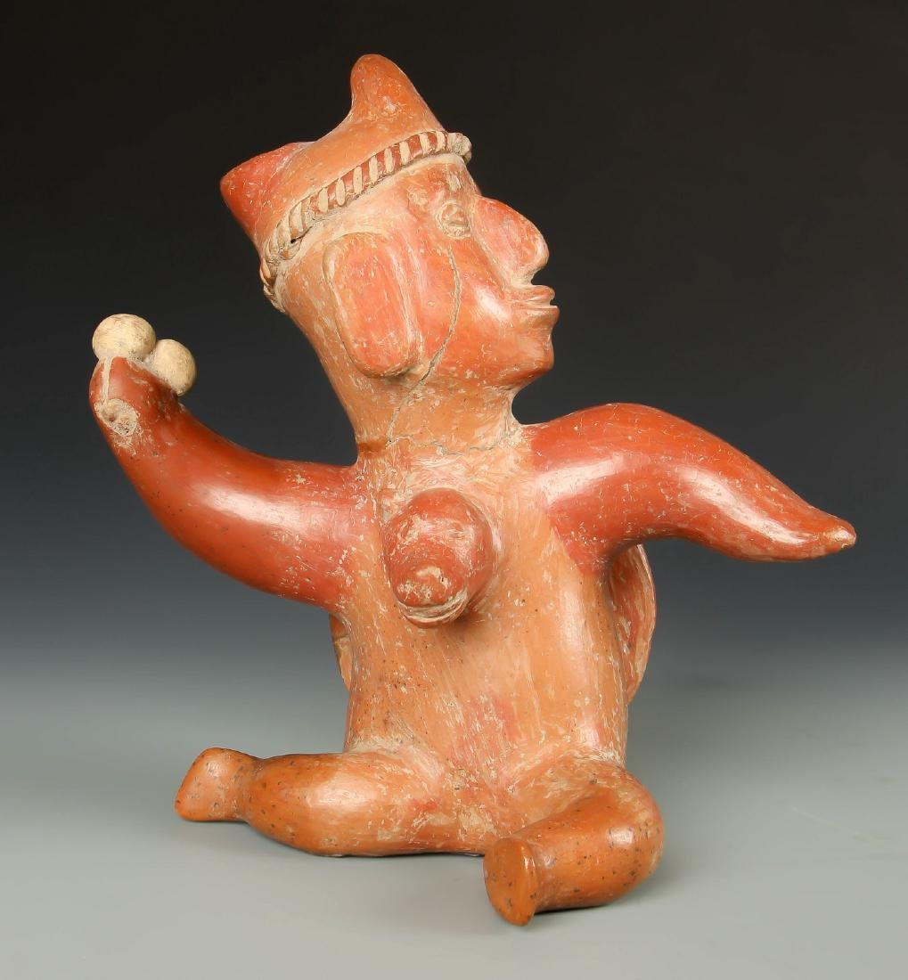 Colima Shaman in Mid Transformation w Dog Head, 200 BCE