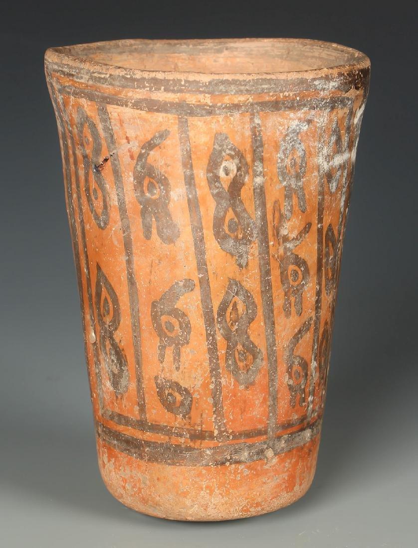 Tiwanaku Cup w Avian Head Images, 300-1150 CE, Bolivia