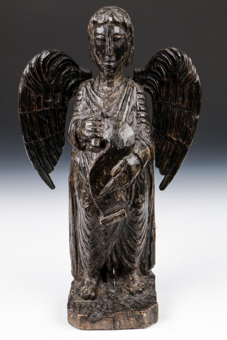 Pair of Carved Wood Angels, Umbria, Ca. 1550 - 2