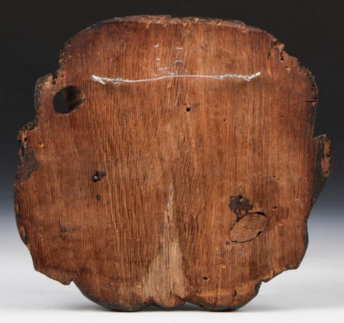15th C. Carved Oak Head, East Anglia - 2