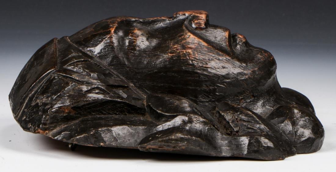 15th C. Carved Oak Head, East Anglia - 3