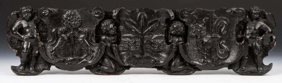 16th/17th C. Italian Carved Oak Figural Panel