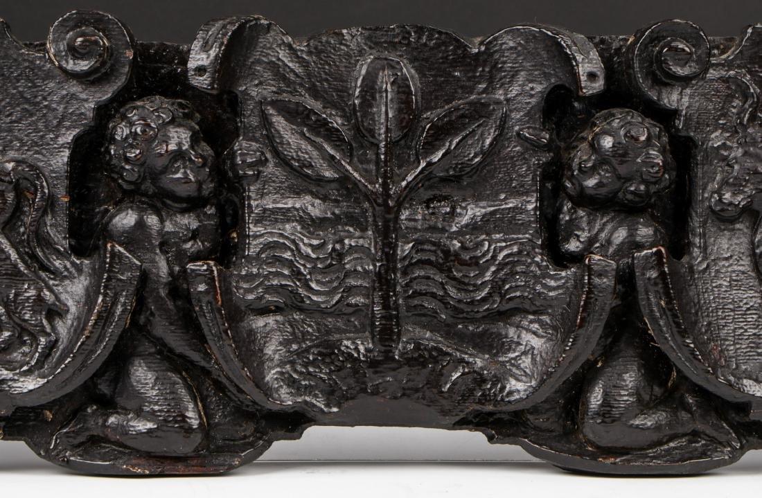 16th/17th C. Italian Carved Oak Figural Panel - 6