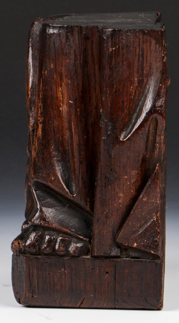 17th C. Carving of Matthew the Angel, French Oak - 5