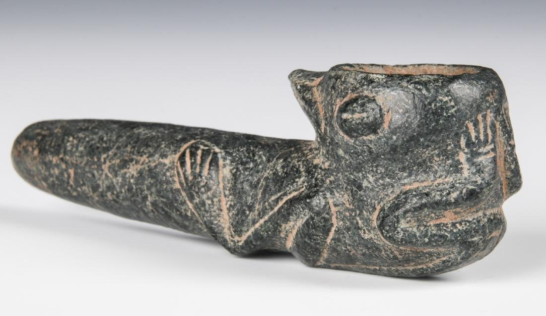 Taino Hallucinating Bird Man Pipe (1000-1500 CE)
