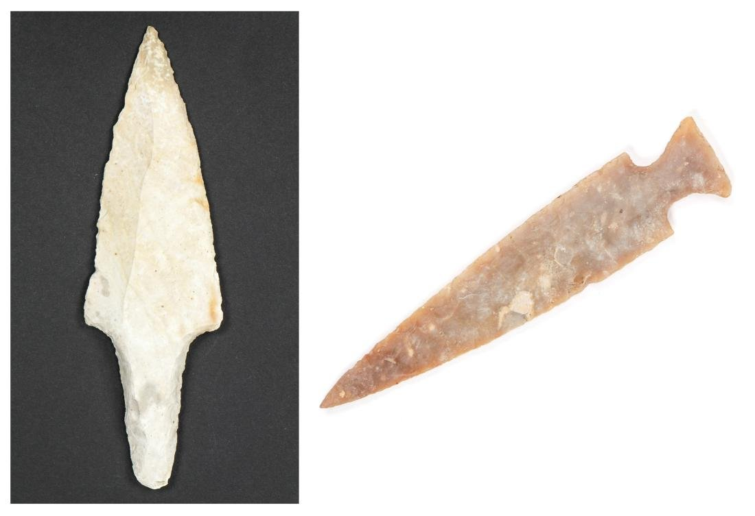 Mayan Int Bifacial Knife and Arrowhead or Atl-Atl Point