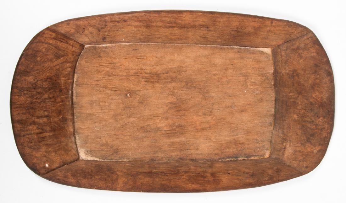 NWC Carved Wood Bowl - 3