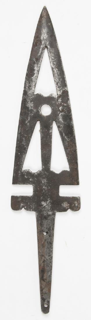 1800's Buffalo Lance (metal), Oklahoma - 2