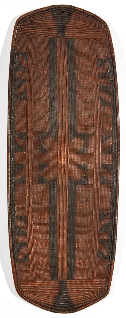 Fine Old African Basket-Weave Shield, Tanzania