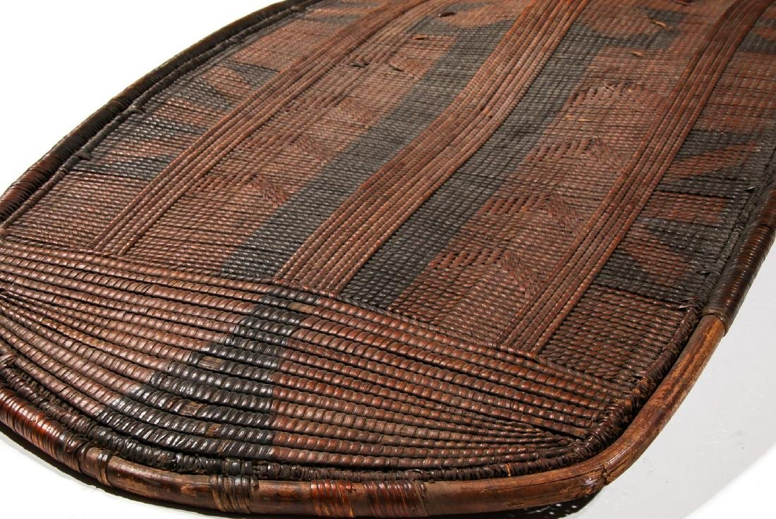 Fine Old African Basket-Weave Shield, Tanzania - 2