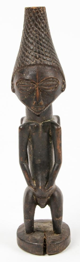 Fine Old Luba Janis Form Divination Idol, Congo