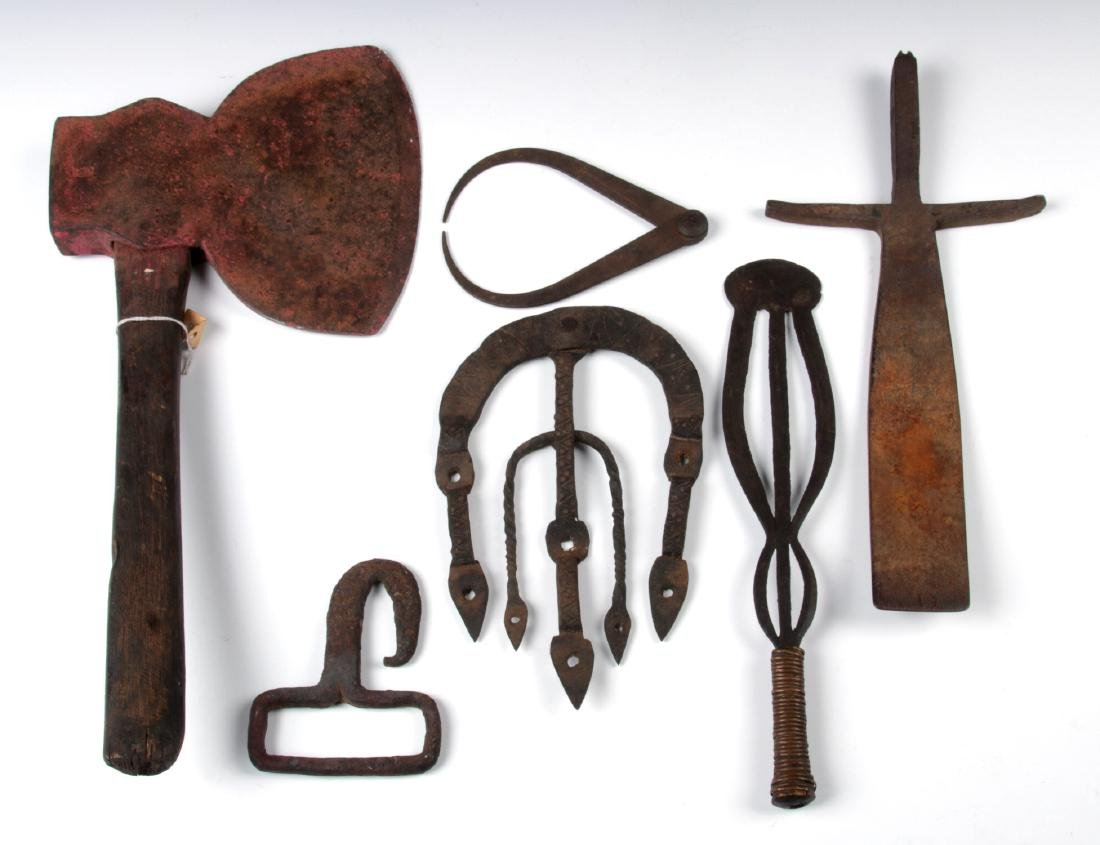 Collection of Misc. Antique Forged Iron Forms