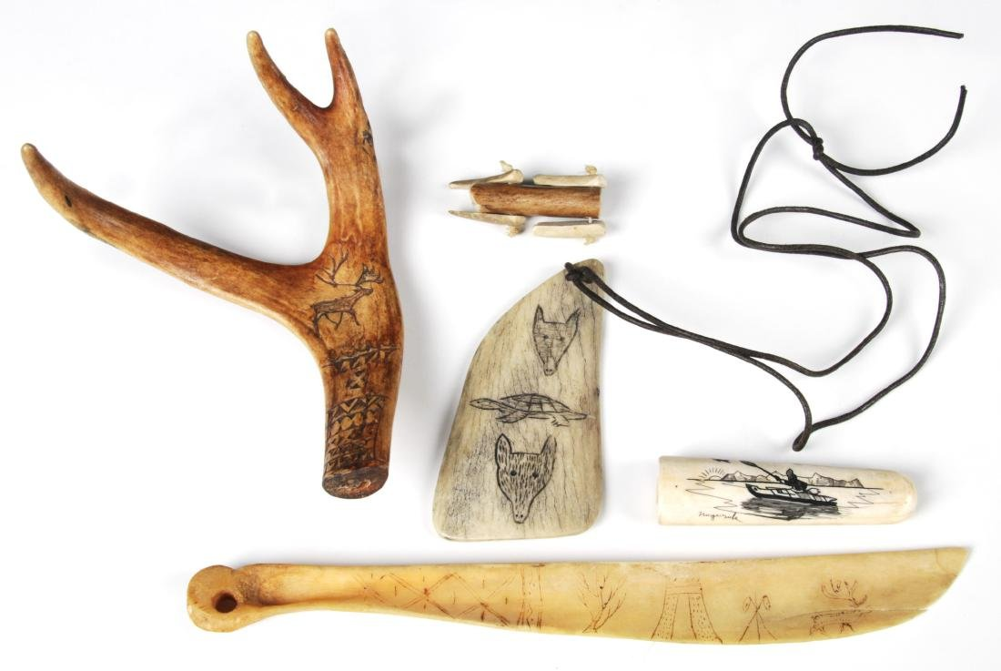 Collection of Scrimshaw Carvings