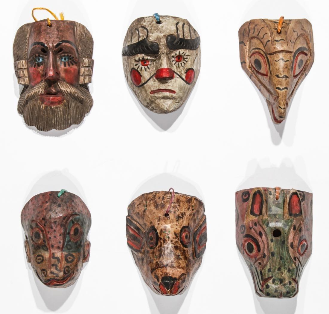 6 Vintage Mexican Festival Masks