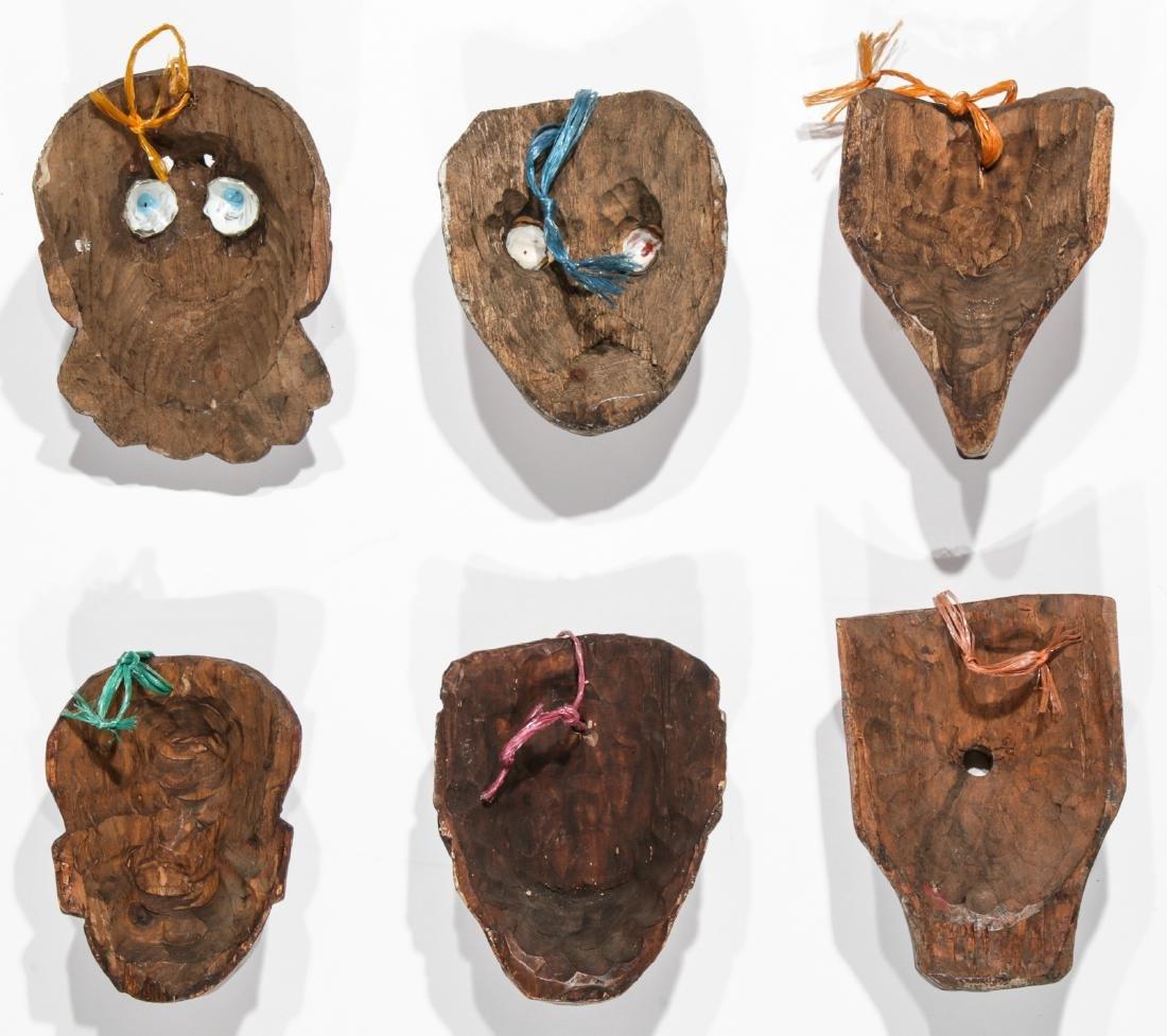 6 Vintage Mexican Festival Masks - 4