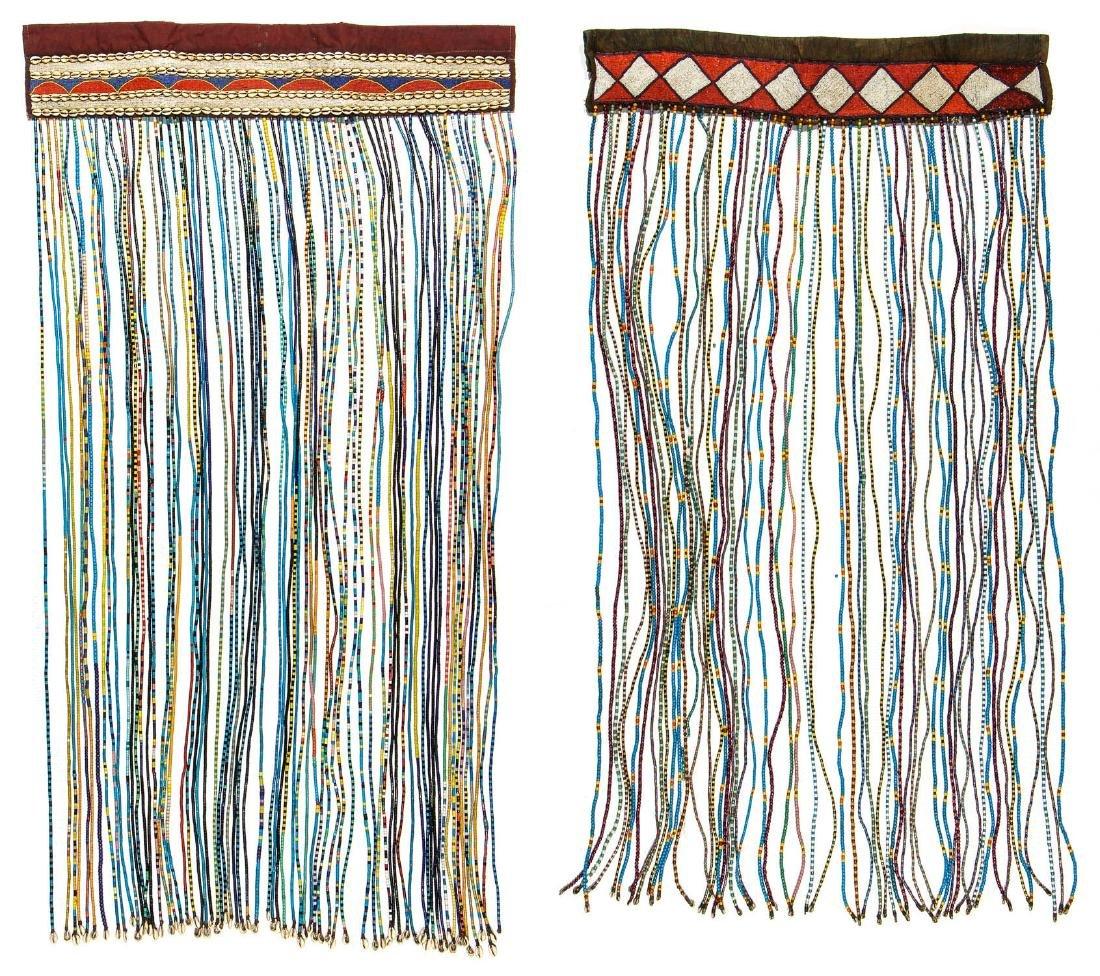 2 Vintage African Bead Hangings