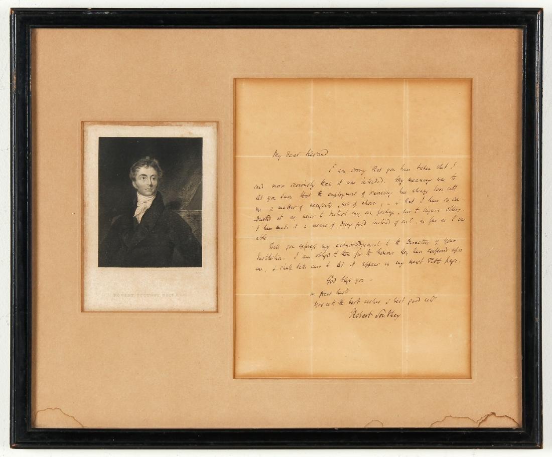 Romantic Poet Robert Southey (1774-1843) Letter