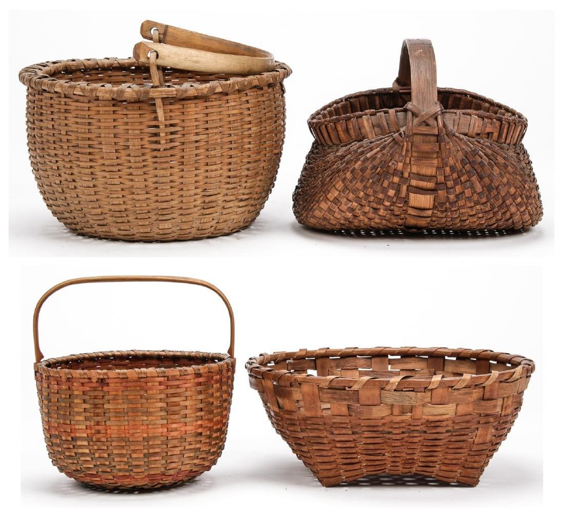 4 Antique American Baskets