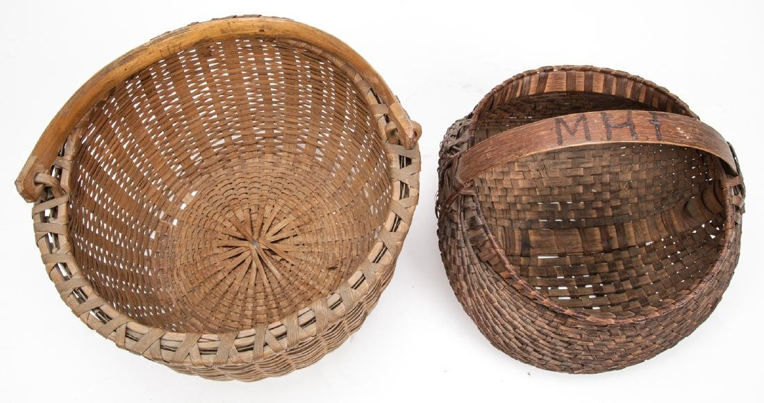 4 Antique American Baskets - 3