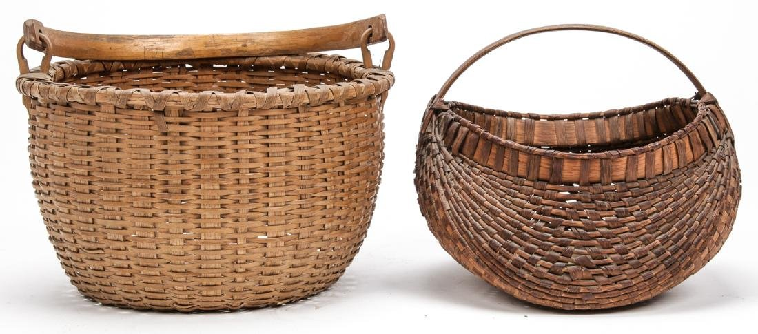 4 Antique American Baskets - 5