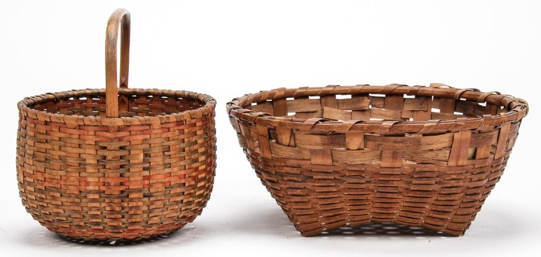 4 Antique American Baskets - 8