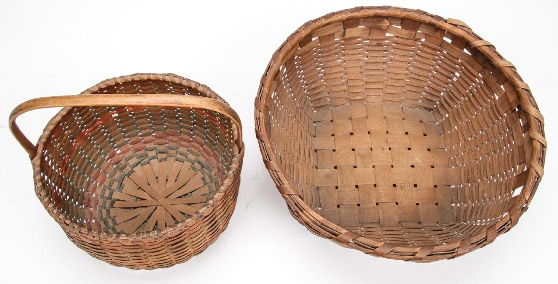 4 Antique American Baskets - 9