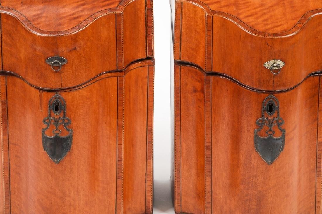 2 Silver Mounted Georgian Cutlery Boxes - 6