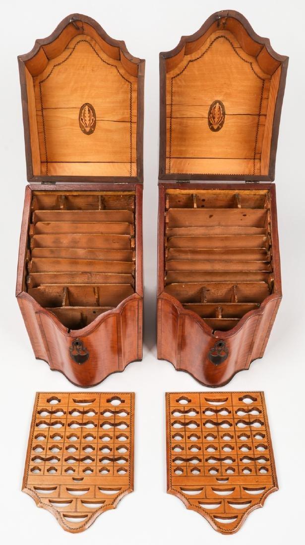 2 Silver Mounted Georgian Cutlery Boxes - 8