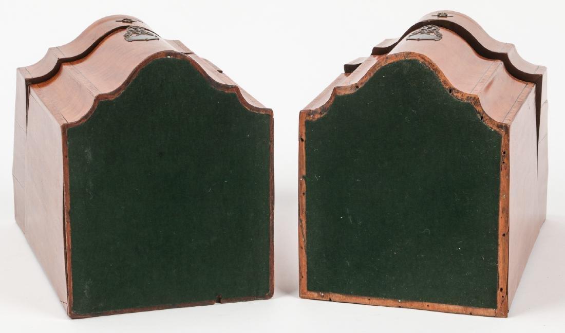 2 Silver Mounted Georgian Cutlery Boxes - 9