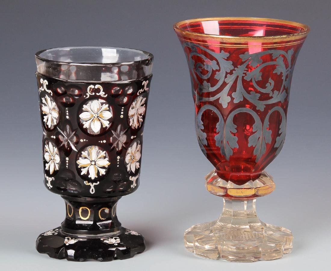 8 pc Estate Glass Collection - 2