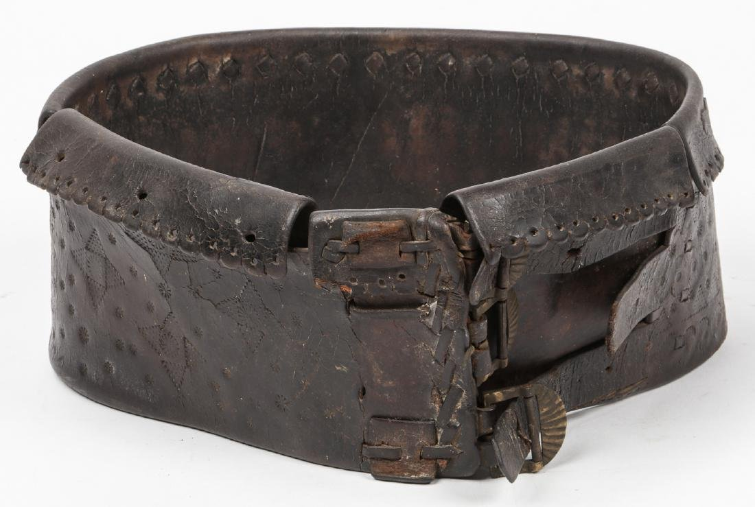 Antique Balkan Leather Mountaineers Belt