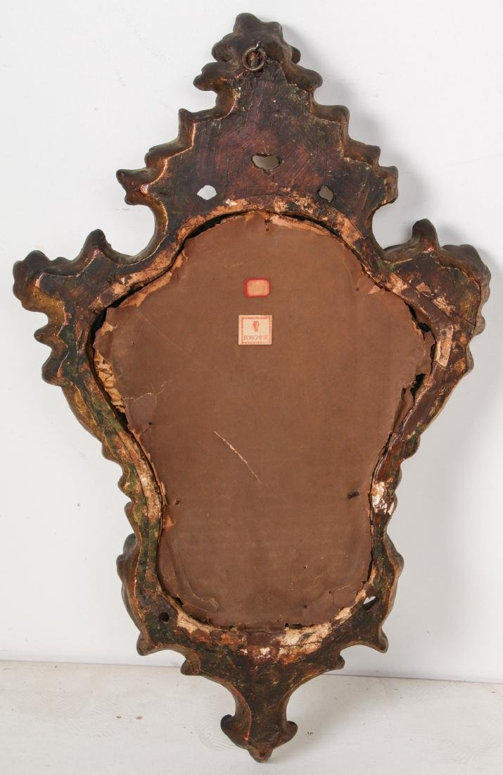 Pair of Carved Wood Mirrors - 3
